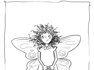 Ausmalbild Irmelina Geisterkind