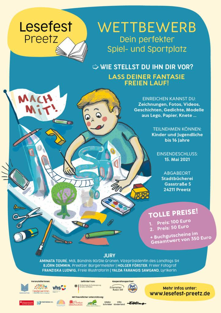 Plakat Lesefest-Wettbewerb
